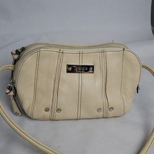 Tignanello cream leather crossbody bag